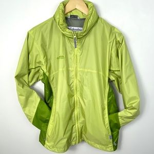 Columbia Packable Lodge Rain Hiking Jacket Green
